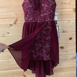 Maroon romper dress, NWT